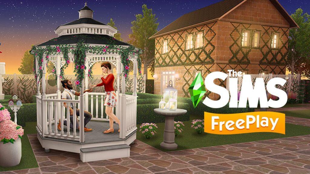 Sims Freeplay Mise à jour jardin Romantique