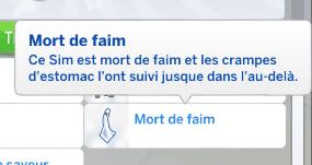 Mort de faim Sims