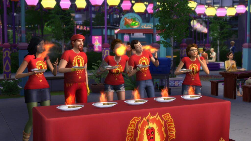 Concours repas Sims 4 Vie Citadine