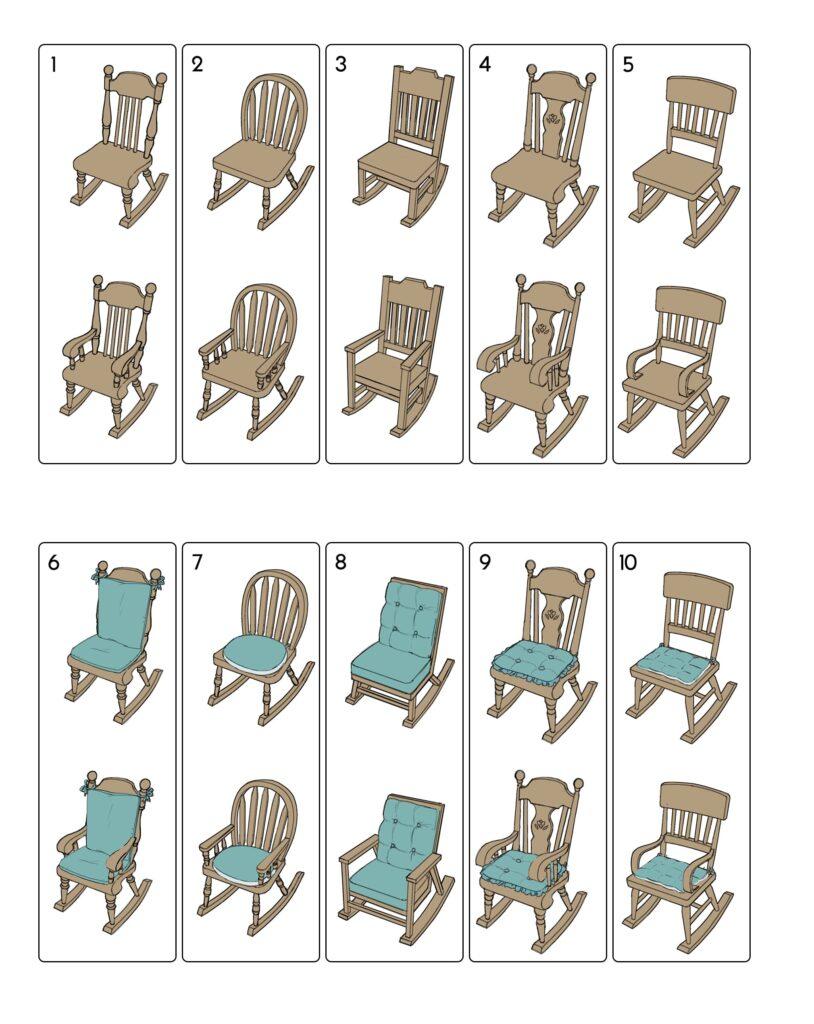 Chaise à bascule sims 4 travaux manuels