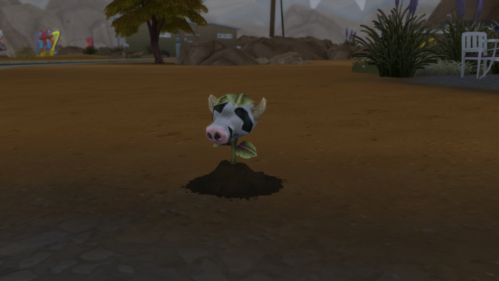 Faire pousser bébé plante vache sims 4