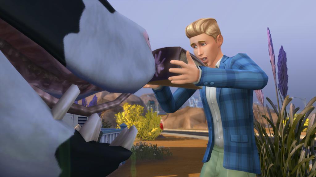 Gâteau plante vache Sims 4