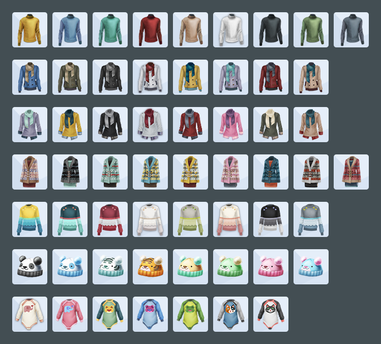 Tenues Sims 4 tricot