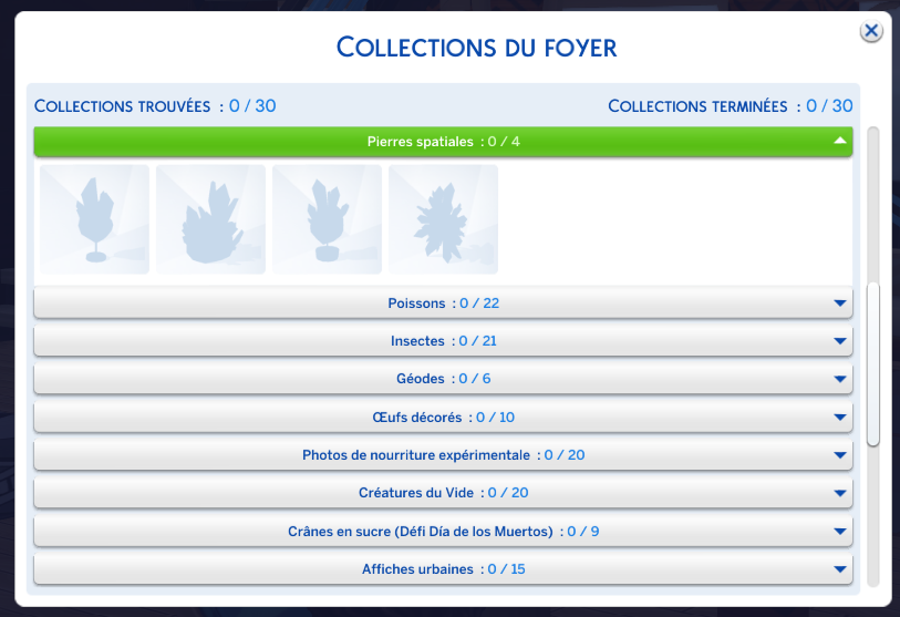 Collections sims 4