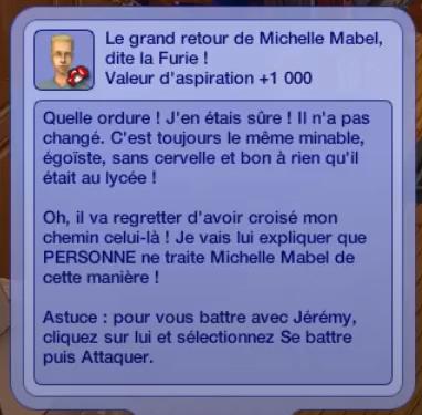 Attaquer Jérémy Sims Histoires de Vie Michelle