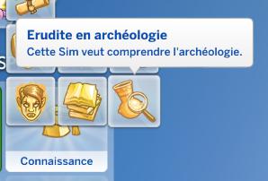 Aspiration érudit en archéologie sims 4 dans la jungle