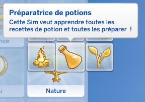 Préparateur de potion sims 4 monde magique