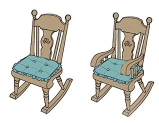 Rocking chair sims 4 tricot de pro