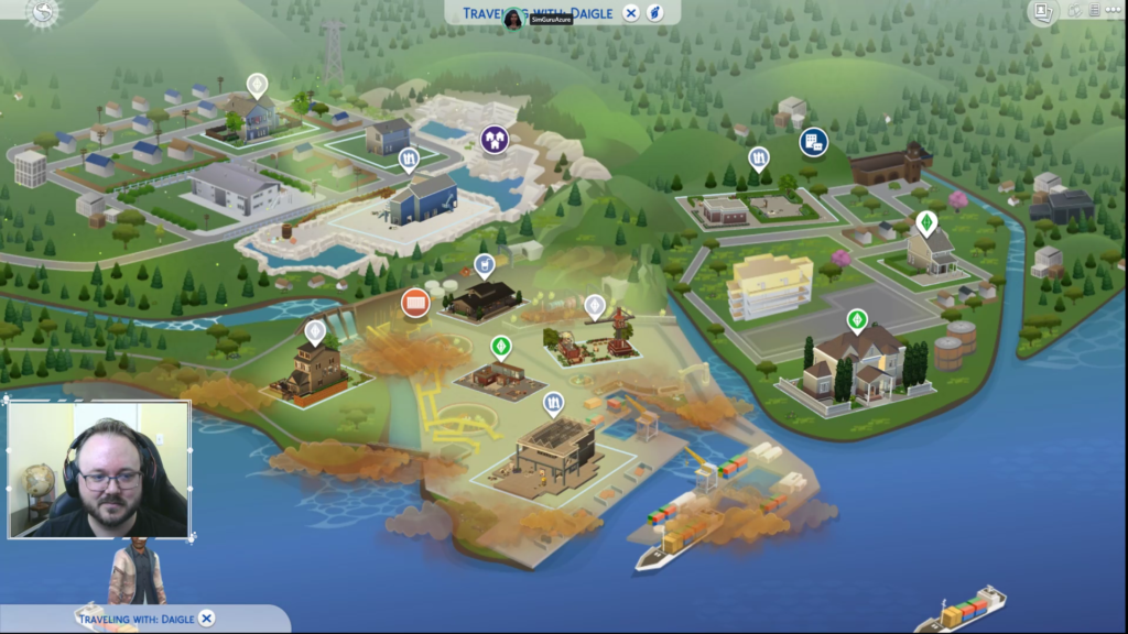 Carte Evergreen Harbor Sims 4 écologie