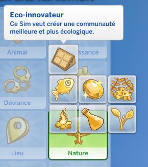 Aspiration éco-innovateur sims 4 écologie