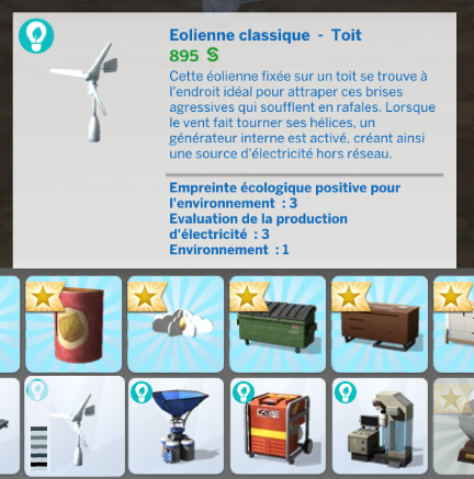 Eolienne sims 4 écologie