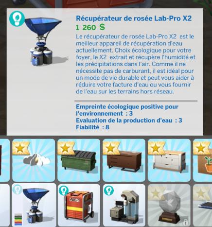 Récupérateur d'eau sims 4