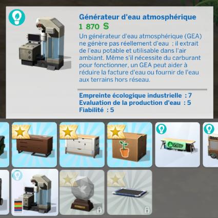 Générateur d'eau sims 4 écologie