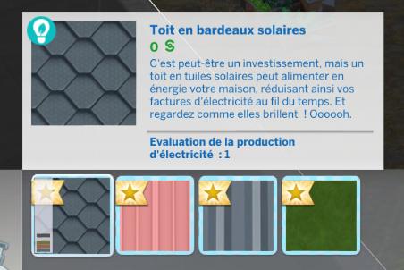 Toit panneau solaire sims 4 écologie