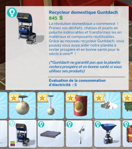 Recycleur domestique sims 4 écologie