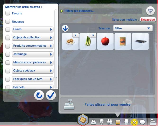 Inventaire Sims 4