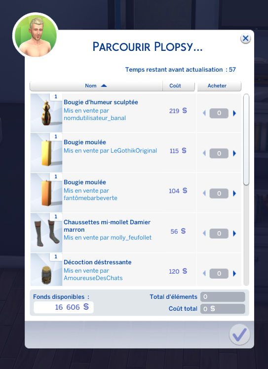 Acheter sur Plopsy sims 4