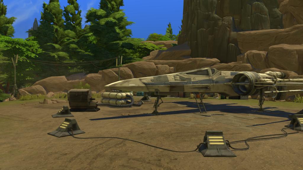 X-wing sims 4 star wars voyage sur Batuu