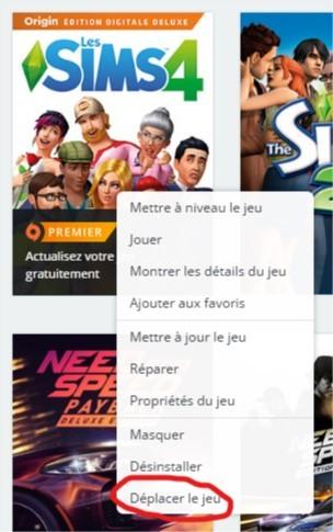 Changer l'emplacement d'installation des Sims 4