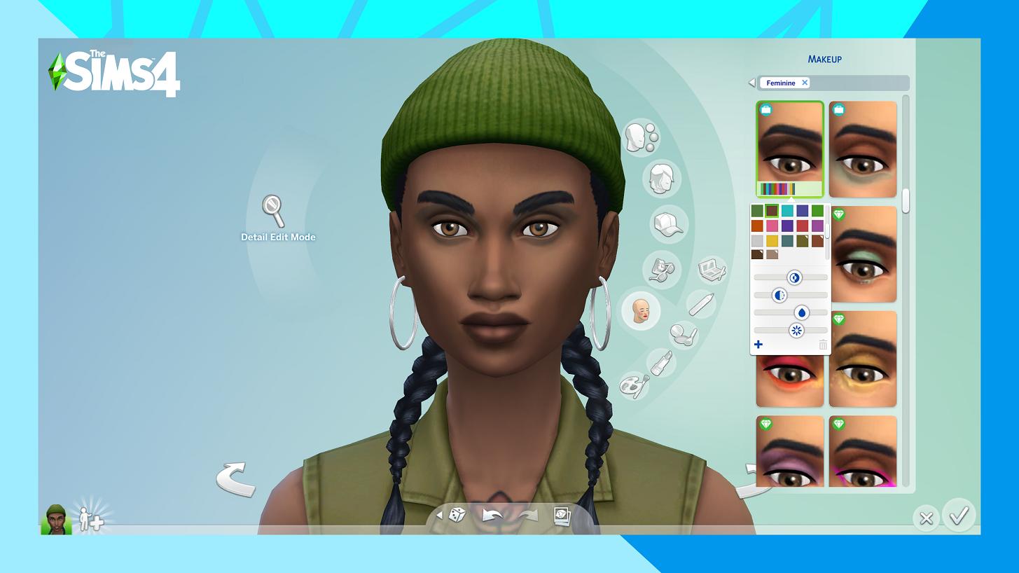 Aperçu des nouvelles couleurs de peau des Sims 4