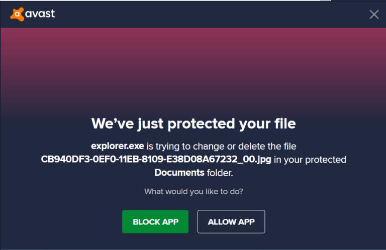 Ajouter Les Sims 4 aux exceptions de l'antivirus AvastMessageBlockEpng