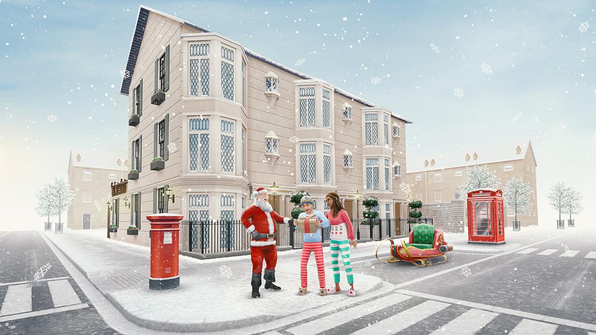 Un Noël à Londres chez Les Sims Freeplay