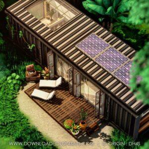 Maison écologique container