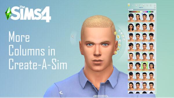 Plus de colonnes dans le Créer Un Sim