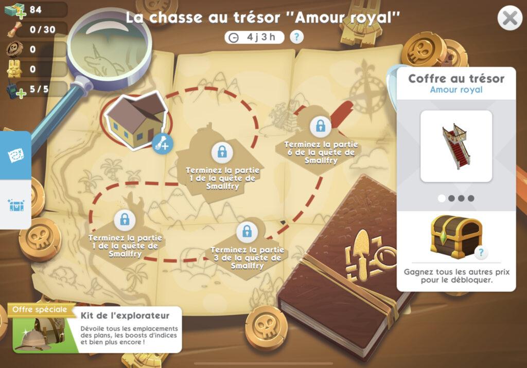 Mise à jour Amour Royal chez Les Sims Mobile