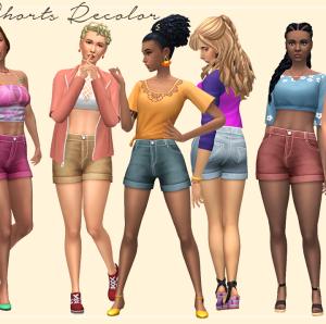Shorts colorés