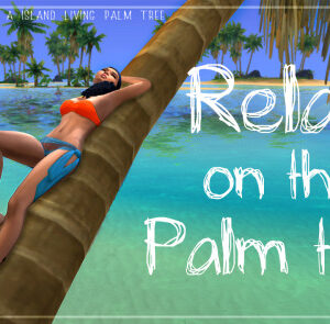 Pose appuyé sur un palmier