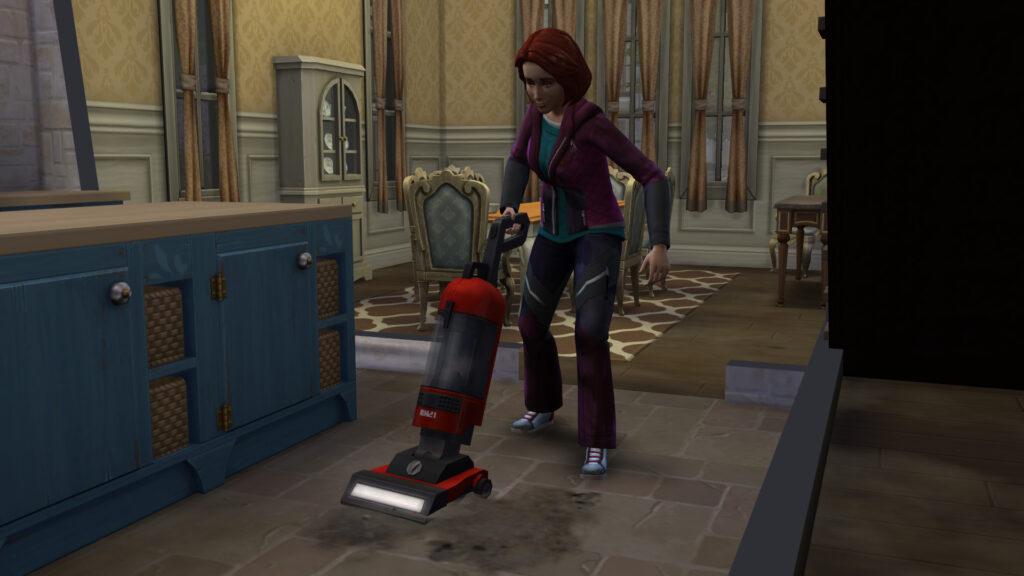 Zoom sur le kit Les Sims 4 Ménage de printemps