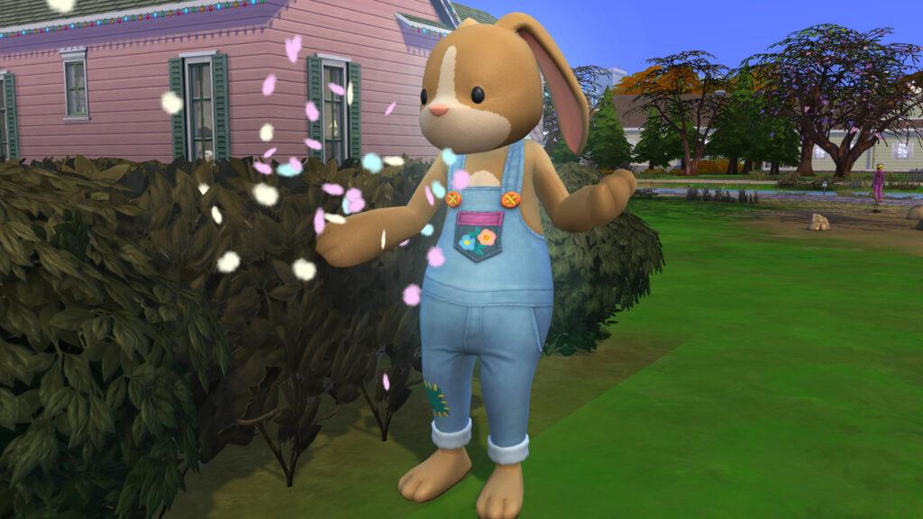 La chasse aux œufs dans Les Sims 4