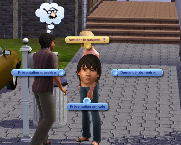 La profession enquêteur des Sims 3 Ambitions