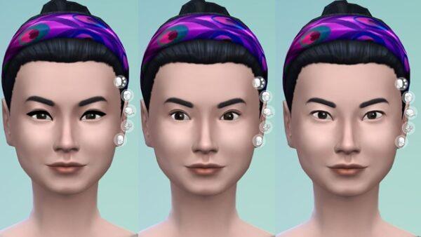 Quelques yeux et coupes de cheveux dans la nouvelle mise à jour Sims 4