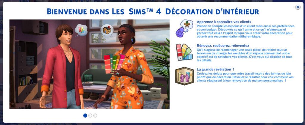 Test Les Sims 4 Décoration d'Intérieur