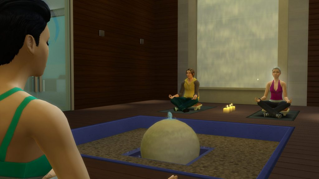 Organiser des cours de méditation ou de yoga dans Les Sims 4 Détente au Spa