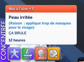Les masques de visage des Sims 4 Détente Au Spa