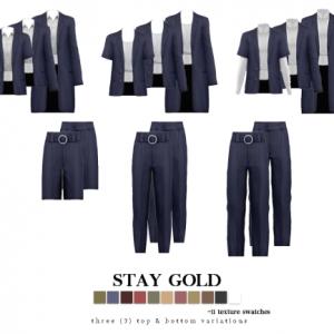 Ensemble de tailleur à taille haute Stay Gold